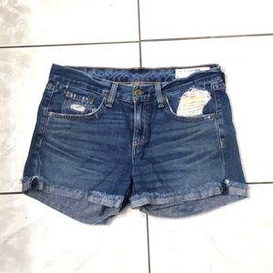 Rag & Bone Woman's Blue Denim Shorts